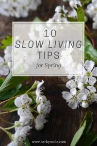 slow living tips for spring