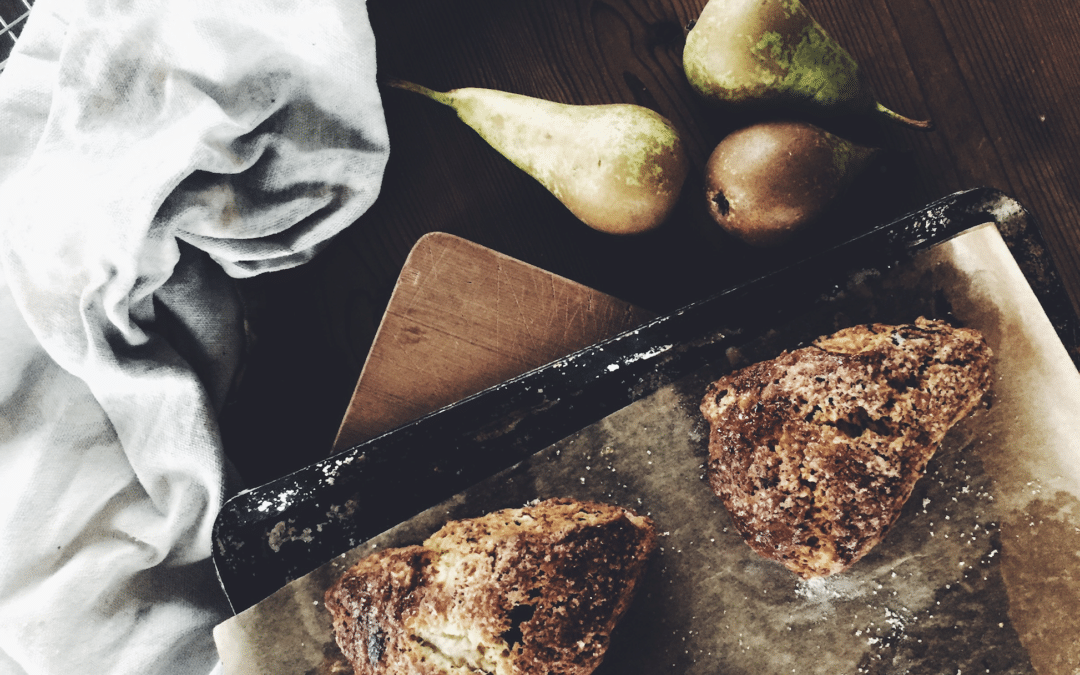 Pear and Chocolate Scone Recipe