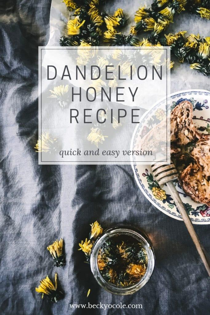 dandelion honey recipe foragers recipes herbal honeys