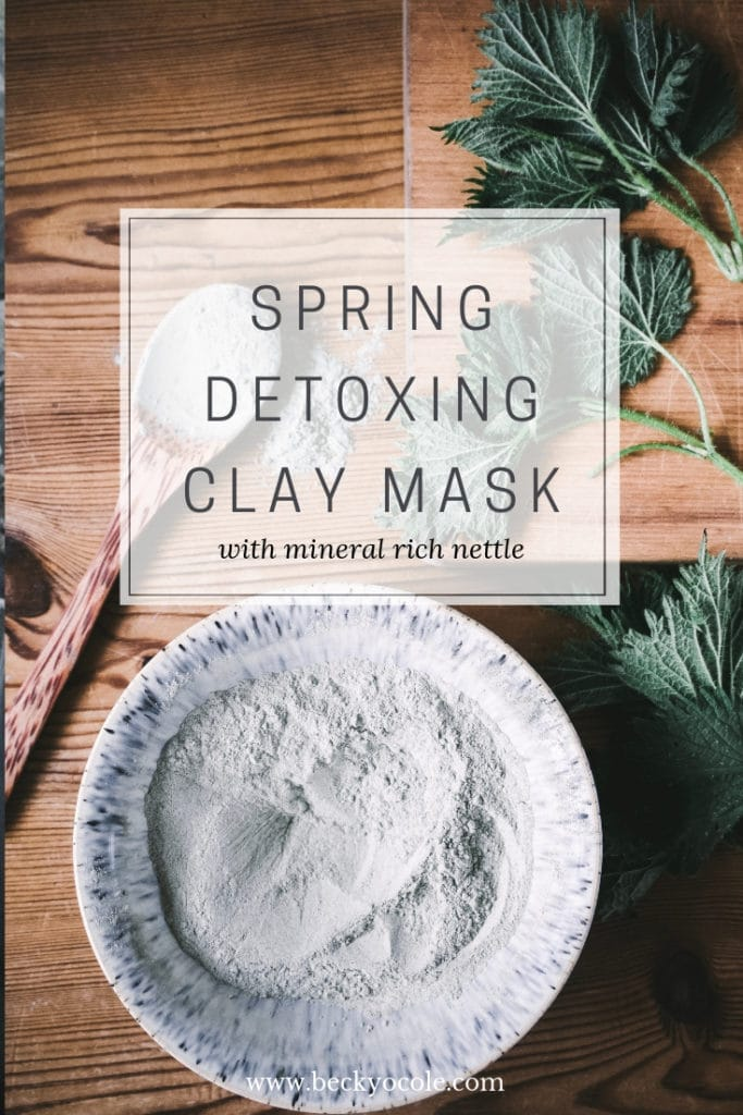 spring clay mask recipe tutorial facial mask recipe natural skincare nettles 2 pin