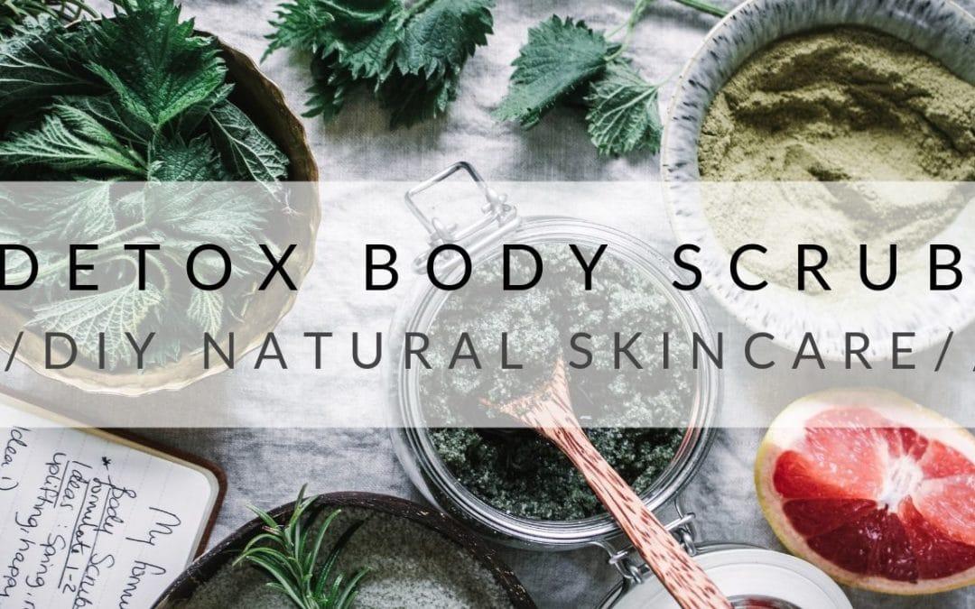 DIY Detox Body Scrub Recipe-Natural Skincare Recipe
