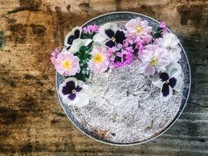 flower cake floral edible flowers