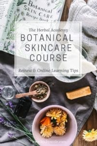 natural skincare course online herbal academy review