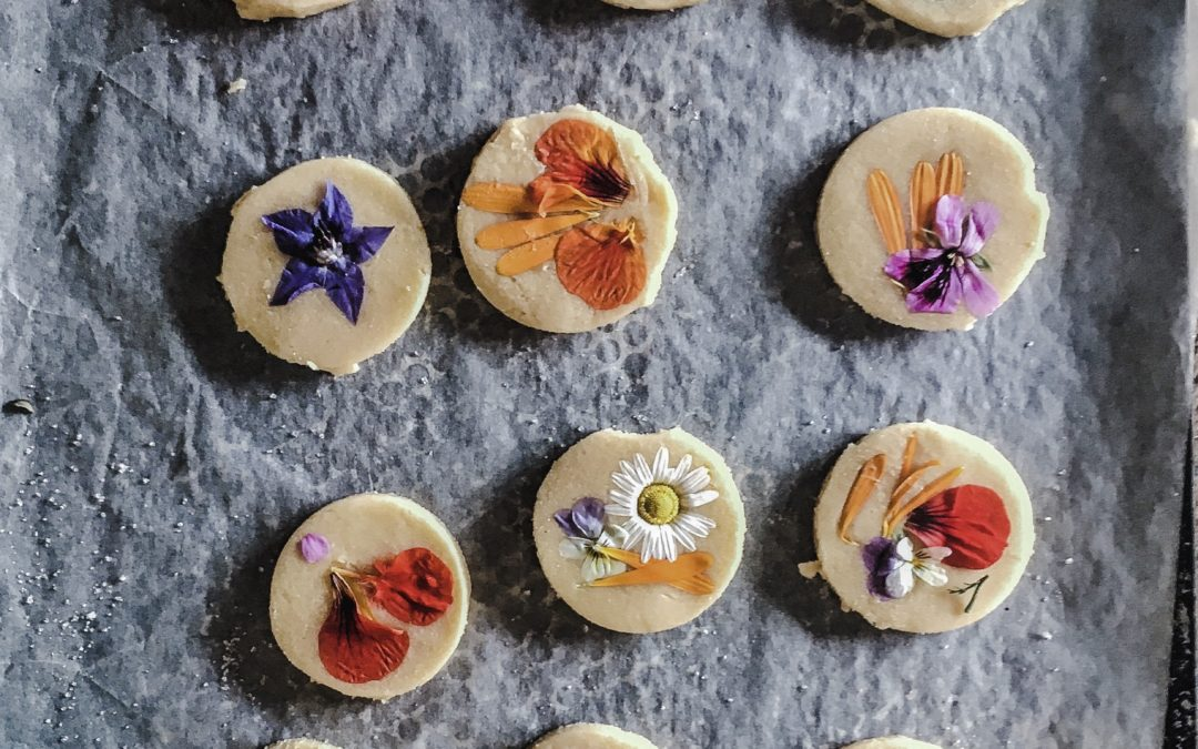 edible flower shortbread biscuit recipe pressed flower biscuits recipe ireland uk
