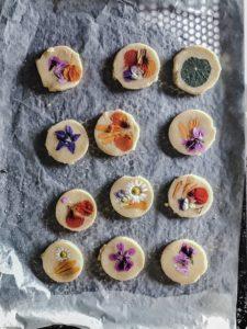 edible flower shortbread biscuit recipe pressed flower biscuits recipe ireland uk