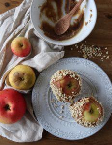 healthy toffee apple date caramel healthy festive
