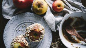 healthy toffee apple date caramel healthy festive blog