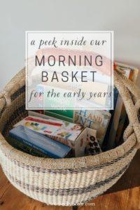secular morning basket waldorf preschool early years enwc